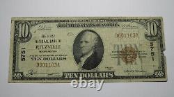 $10 1929 Ritzville Washington WA National Currency Bank Note Bill Ch. #5751 RARE