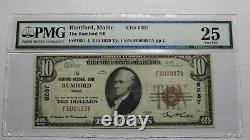 $10 1929 Rumford Maine ME National Currency Bank Note Bill Ch. #6287 PMG VF25