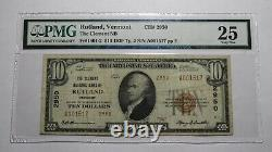 $10 1929 Rutland Vermont VT National Currency Bank Note Bill! #2950 VF25 PMG