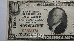 $10 1929 San Francisco California CA National Currency Bank Note Bill #13044 VF+