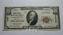 $10 1929 Saugerties New York NY National Currency Bank Note Bill Ch. #1040 RARE