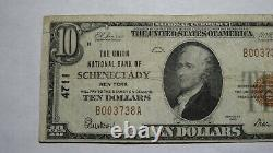$10 1929 Schenectady New York NY National Currency Bank Note Bill Ch. #4711 VF