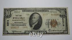 $10 1929 Shickshinny Pennsylvania PA National Currency Bank Note Bill #5573 VF