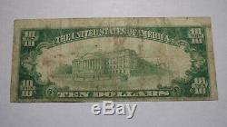$10 1929 St. Ignace Michigan MI National Currency Bank Note Bill Ch. #3886 Saint
