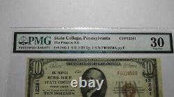 $10 1929 State College Pennsylvania National Currency Bank Note Bill #12261 VF30