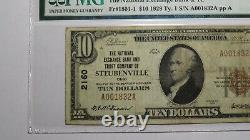 $10 1929 Steubenville Ohio OH National Currency Bank Note Bill! #2160 VF20 PMG