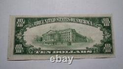$10 1929 Steubenville Ohio OH National Currency Bank Note Bill Ch. #2160 RARE