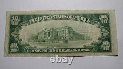 $10 1929 Stroudsburg Pennsylvania PA National Currency Bank Note Bill #3632 RARE