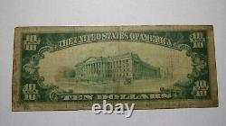 $10 1929 Tampa Bay Florida FL National Currency Bank Note Bill Ch. #3497 RARE