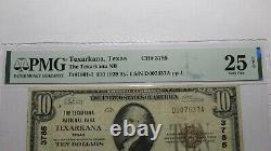 $10 1929 Texarkana Texas TX National Currency Bank Note Bill Ch. #3785 VF25 PMG