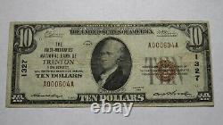 $10 1929 Trenton New Jersey NJ National Currency Bank Note Bill! Ch. #1327 FINE