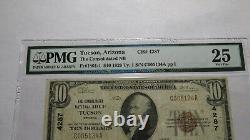 $10 1929 Tucson Arizona AZ National Currency Bank Note Bill Ch. #4287 PMG VF25