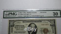 $10 1929 Valley City North Dakota ND National Currency Bank Note Bill #13385 PMG