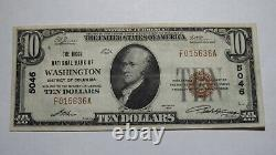 $10 1929 Washington District of Columbia National Currency Bank Note Bill #5046