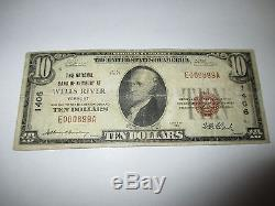 $10 1929 Wells River Vermont VT National Currency Bank Note Bill Ch. #1406 FINE