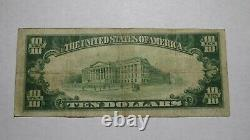 $10 1929 Wells River Vermont VT National Currency Bank Note Bill! Ch #1406 FINE
