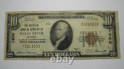 $10 1929 Wells River Vermont VT National Currency Bank Note Bill! Ch. #1406 VF