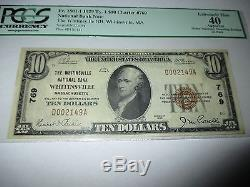 $10 1929 Whitinsville Massachusetts MA National Currency Bank Note Bill #769 XF