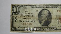 $10 1929 Wilmerding Pennsylvania PA National Currency Bank Note Bill #5000 RARE