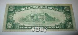 $10 1929 Wilton New Hampshire NH National Currency Bank Note Bill! Ch. #13247 VF