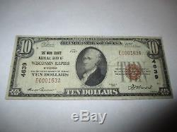 $10 1929 Wisconsin Rapids Wisconsin WI National Currency Bank Note Bill #4639