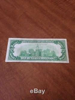 100 Dollar Bill Note Federal Reserve Bank Chicago Illinois National Currency