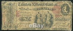 1875 $1 The Taunton National Bank In Taunton, Ma National Currency Ch #957 Rare