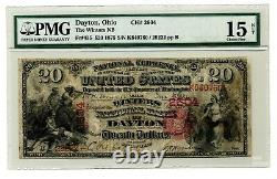 1875 $20 National Currency The Winters National Bank Dayton Ohio Fr. 435 PMG15