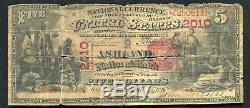 1875 $5 The Ashland National Bank Of Kentucky National Currency Ch. #2010