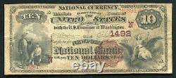 1882 $10 Bb The Newport National Bank Rhode Island National Currency Ch. #1492