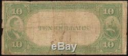 1882 $10 Louisville Kentucky National Bank Note Large Currency Old Paper Money
