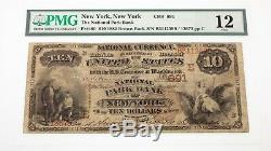 1882 $10 National Currency Fr #480 National Park Bank Ch #891 PMG Fine 12
