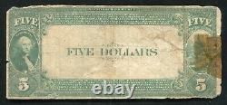 1882 $5 Vb The Citizens National Bank Of Eureka, Ks National Currency Ch. #5655