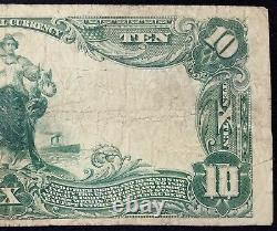 1902 $10.00 National Currency, The Safe Deposit National Bank of New Bedford, MA