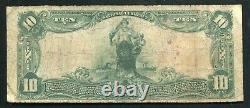 1902 $10 Belvidere National Bank New Jersey National Currency Ch. #1096 Unique