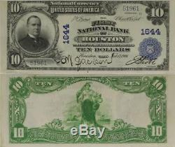 1902 $10 First National Bank of Houston, TX, Charter #1644. National Currency