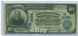 1902 $10 Merchants National Bank Of Peoria ILL National Currency Charter M 3254