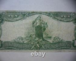 1902 $10 NATIONAL CURRENCY Bank Note INDIANAPOLIS IND. FLETCHER AMERICAN BANK