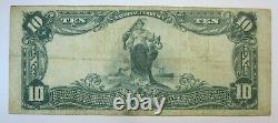1902 $10 National Currency Large Note, Union National Bank of Pittsburgh, VF/XF