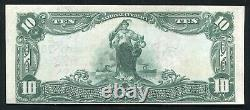 1902 $10 Rs German National Bank Pittsburgh, Pa National Currency Ch. #757 Unc