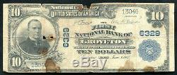 1902 $10 The 1st National Bank Of Groveton, Tx National Currency Ch. #6329