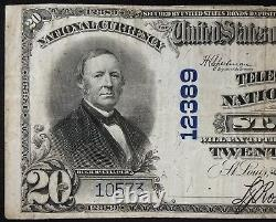 1902 $20.00 Dollars Nat'l Currency, The Telegraphers National Bank of St. Louis