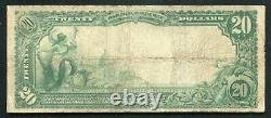 1902 $20 Columbia National Bank Of Washington, D. C. National Currency Ch #3625