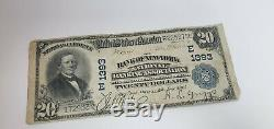 1902 $20 First National Currency Bank of New York 1902 E1393