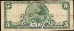 1902 $5 DOLLAR HOUSATONIC NATIONAL BANK of STOCKBRIDGE NOTE CURRENCY CH 1170