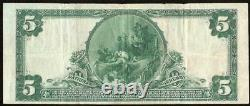 1902 $5 Dollar Bill National Bank Note Large Currency Old Paper Money Rochester