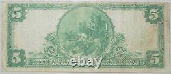 1902 $5 National Currency Note Riggs National Bank Washington D. C. # 5046 VF