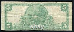 1902 $5 The Birmingham National Bank Connecticut National Currency Ch. #1098