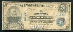 1902 $5 The Charleston National Bank West Virginia National Currency Ch. #3236