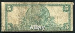 1902 $5 The Mellon National Bank Of Pittsburgh, Pa National Currency Ch. #6301